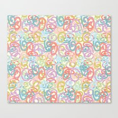 Colored pattern Canvas Print