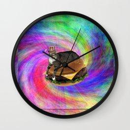 Prankster Lucy-Fur Burger Wall Clock