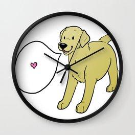 DOG DAYS: LABRADOR (YELLOW) Wall Clock