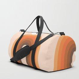 Mid Century Modern Geometric 13 (Rainbow and Sun) Duffle Bag