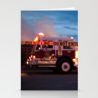police Stationery Cards featuring Police Line by SShaw Photographic