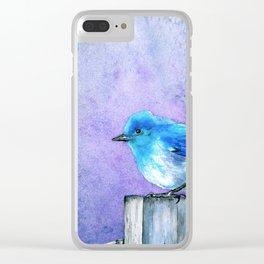 Bluebird Bliss Clear iPhone Case