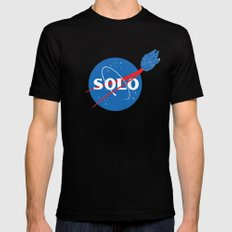 SOLO MEDIUM Black Mens Fitted Tee