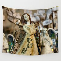 angels Wall Tapestries featuring Angels Waltz by IowaShots