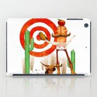 cowboy iPad Cases featuring Cowboy by Nacho Z. Huizar