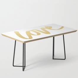 Love Gold White Type Coffee Table