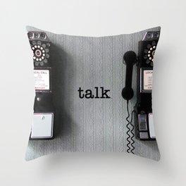 talk Throw Pillow