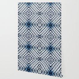 Diamonds Indigo Wallpaper