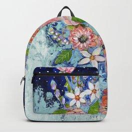 Celestial Sky Flower Garden Backpack