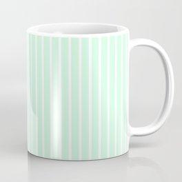 White Pinstripe on Summermint Green Coffee Mug