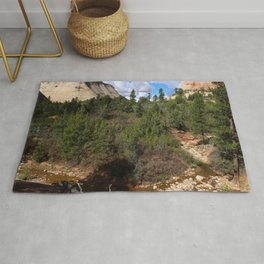 Zion Park Checkerboard Mesa View  Rug