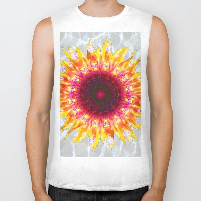 sunflower happiness Biker Tank