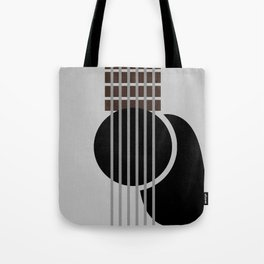 Minimalist Guitar Tote Bag