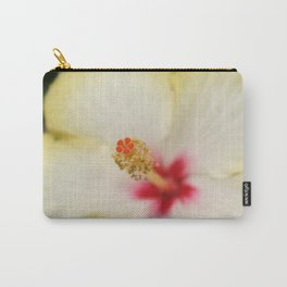 Stamen With Yellow Hibiscus Petal Background  Carry-All Pouch
