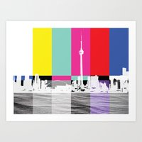 toronto Art Prints featuring Toronto by Shazia Ahmad