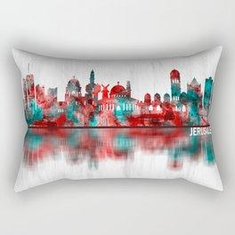 Jerusalem Israel Skyline Rectangular Pillow