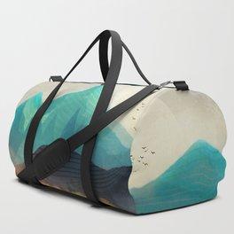Green Wild Mountainside Duffle Bag