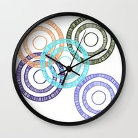 bianca Wall Clocks featuring Bianca Circle by Ellie And Ada