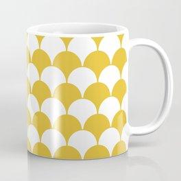 Fan Pattern 321 Mustard Yellow Coffee Mug
