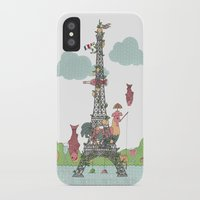 eiffel tower iPhone & iPod Cases featuring Eiffel Tower by ShangheeShin