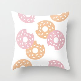 Sprinkled Donuts Throw Pillow