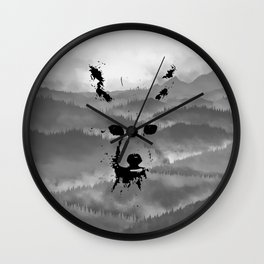 Mountan Fox Wall Clock