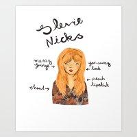 stevie nicks Art Prints featuring Stevie Nicks by Emma Block