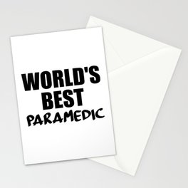 worlds best paramedic Stationery Cards