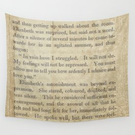 Pride and Prejudice  Vintage Mr. Darcy Proposal by Jane Austen   Wall Tapestry