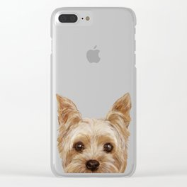 Yorkshire Terrier original painting print Clear iPhone Case