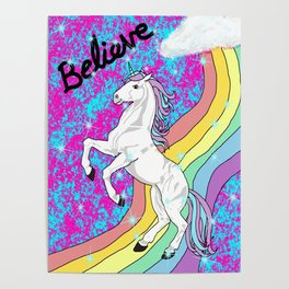 Believe (Unicorn) Poster
