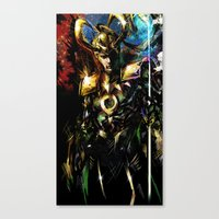 loki Canvas Prints featuring Loki by Vincent Vernacatola