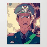 phil jones Canvas Prints featuring Phil by zatcomics