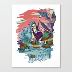 The Furious River Goddess Canvas Print