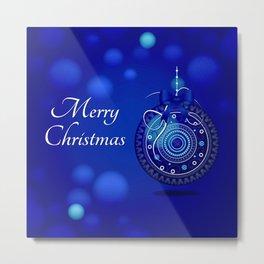 Christmas Ornament - Blue 56 Metal Print