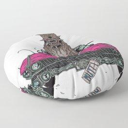 Hot Dogs Kill Cars Floor Pillow