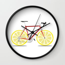 Single Lemon Speed Wall Clock