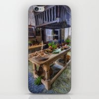 kitchen iPhone & iPod Skins featuring Olde Kitchen by Ian Mitchell