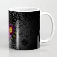 majoras mask Mugs featuring Majora's Mask by Art & Be