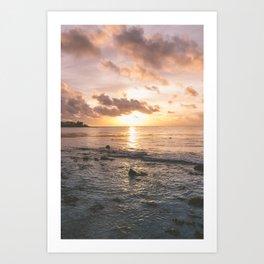 Caribbean Sea, Mayan Riviera Art Print