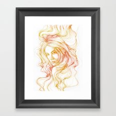 flow line Framed Art Print