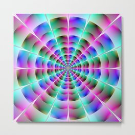 Time Tunnel in Blue and Pink Metal Print
