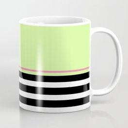Black + White And Lime Green Coffee Mug