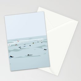 Tiny Surfers in Lima Illustrated Stationery Cards