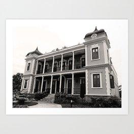Labadie Castle in Moca  Art Print