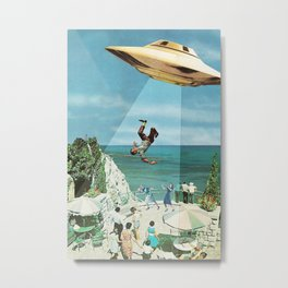 UFO Abduction Metal Print