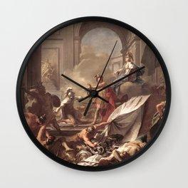 Jean-Marc Nattier - Perseus with Minerva Showing the Head of Medusa Wall Clock
