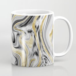 Gray Black White Gold Marble #1 #decor #art #society6 Coffee Mug