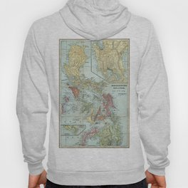 Vintage Map of The Philippines (1898) Hoody
