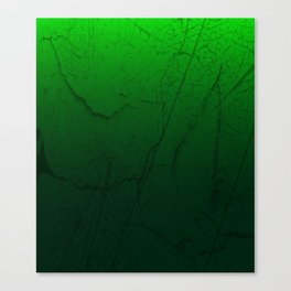 Cracked Green Canvas Print